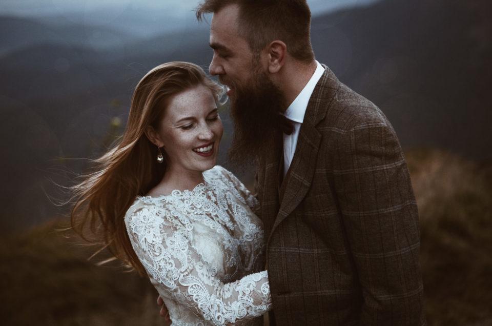 Monika & Dominik || mountain wedding session || Wetlina